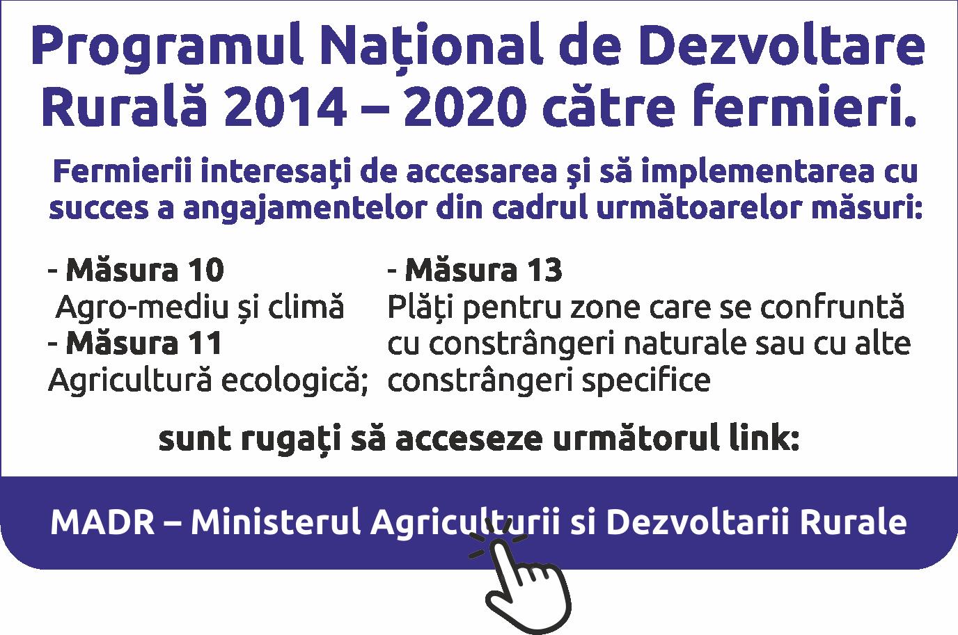 MADR - Ministerul Agriculturii si Dezvoltarii Rurale